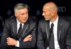 Carlo Ancelotti, Zinedine Zidane, Real Madrid v Betis - Liga BBVA