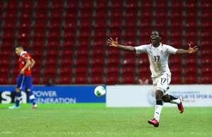 Ebenezer Assifuah celebrating against Portugal