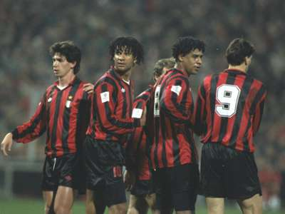 Demitrio Albertini Ruud Gullit Frank Rijkaard Marco Van Basten Milan 1992