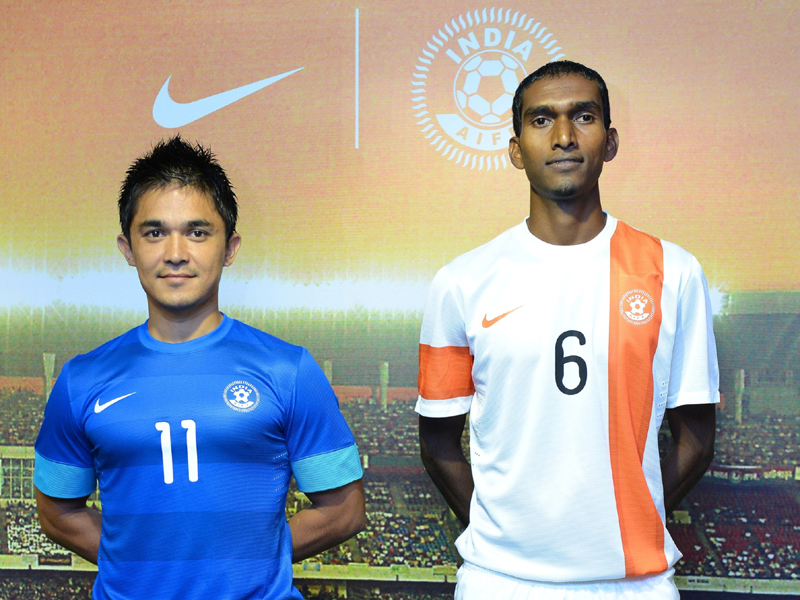 Indian National Football Team Kit:Sunil Chhetri,Lenny Rodrigues