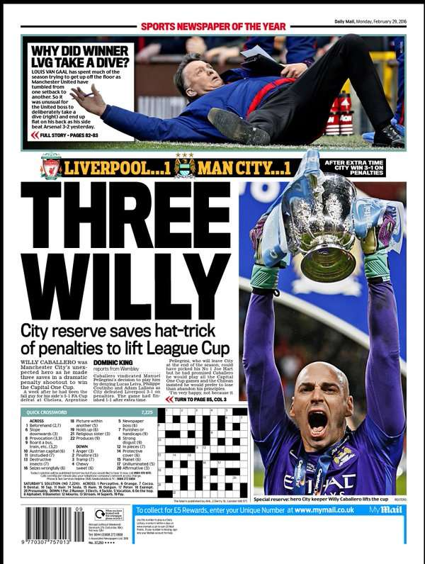 Daily Mail back page 290216