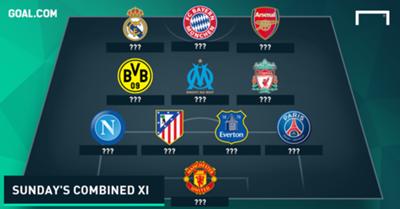 Sunday's European fixtures combined XI