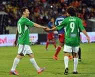 Messi en Colombia con Aimar