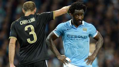 Champions League Manchester City vs Juventus Giorgio Chiellini Wilfried Bony