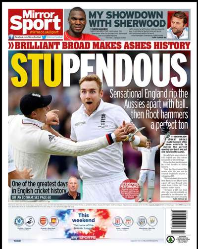 Daily Mirror Back Page 070815