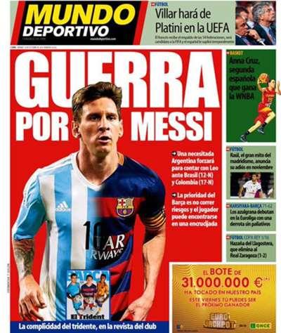 Mundo Deportivo frontpage 16102015
