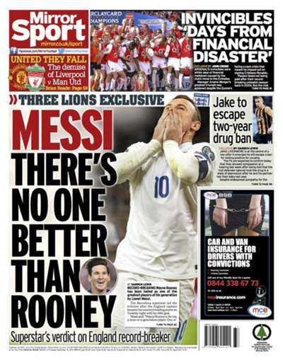 Daily Mirror back page 10092015