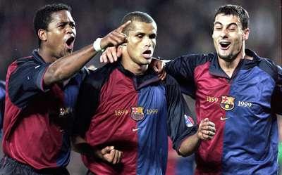 Kluivert, Rivaldo y Dani - Barcelona 2000