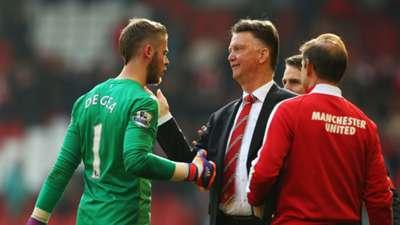 David De Gea; Louis van Gaal Manchester United