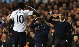 Emmanuel Adebayor Tim Sherwood  Tottenham Hotspur Sunderland Premier League  04072014