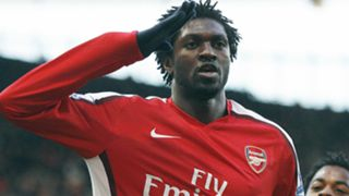 ARSENAL GOALSCORER Emmanuel Adebayor