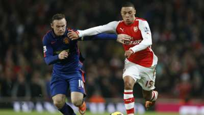 Wayne Rooney Alex Oxlade-Chamberlain Arsenal Manchester United