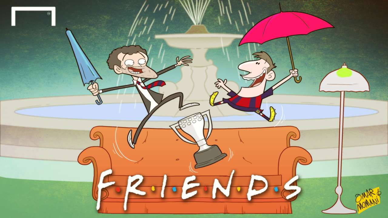 Cartoon Barcelona win La Liga