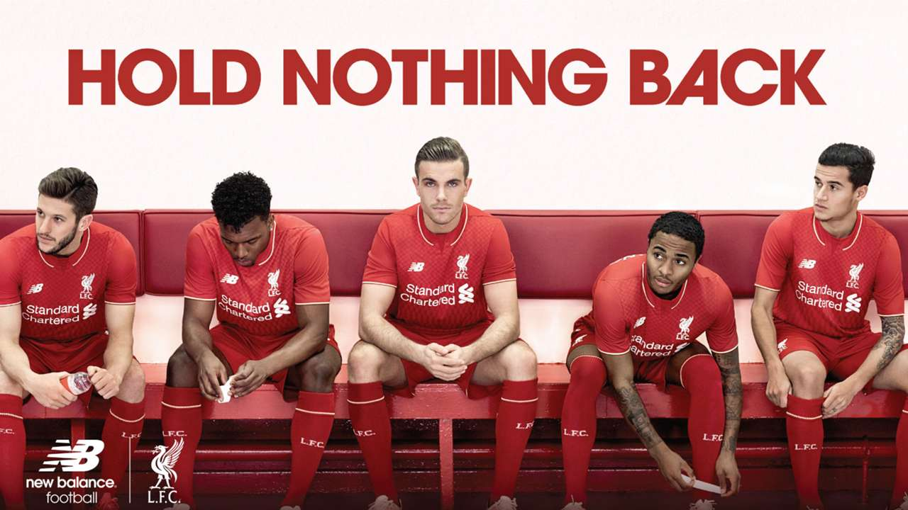 Raheem Sterling Liverpool kit launch