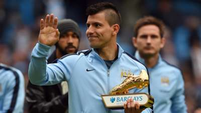 Sergio Aguero Golden Boot Premier League 24052015