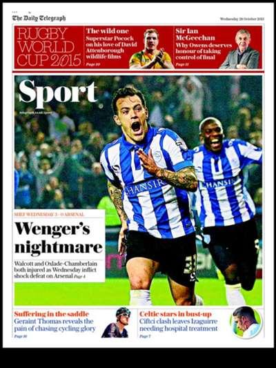 Telegraph sport 281015