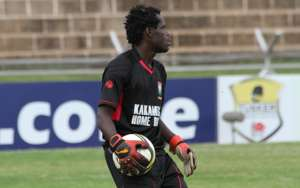 Kakamea Homeboyz goalkeeper John Waw.