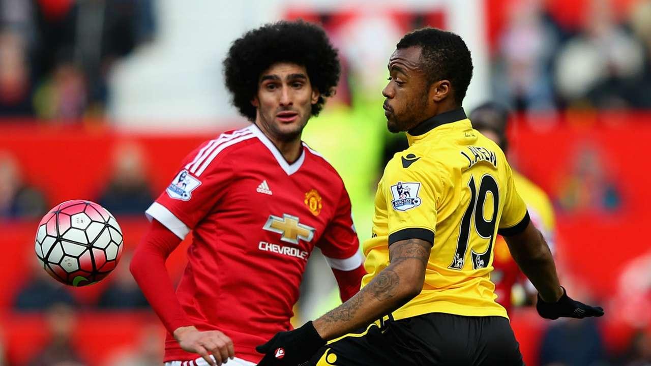 HDP Marouane Fellaini Manchester United Jordan Ayew Aston Villa Premier League 16042016