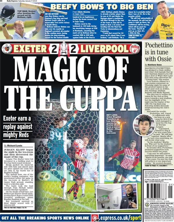 Daily Express Back Page 010915