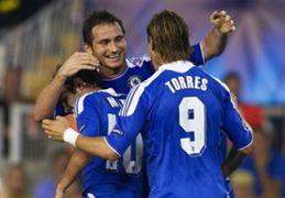 Frank Lampard Juan Mata Fernando Torres Chelsea 28092011