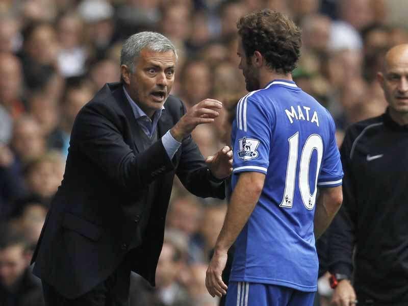 Juan Mata Jose Mourinho Chelsea FC