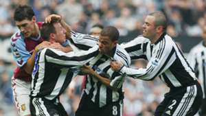 Lee Bowyer and Kieron Dyer Newcastle United - April 2005