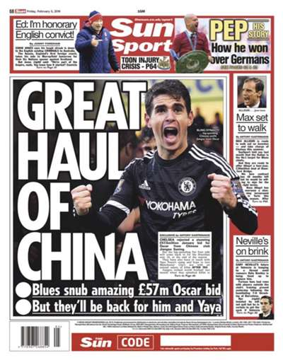 The Sun backpage 05022016