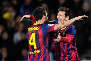 Lionel Messi Cesc Fabregas Real Sociedad Barcelona Copa del Rey 02122014