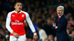 Alexis Sanchez Arsene Wenger Arsenal v Chelsea Premier League 24012016