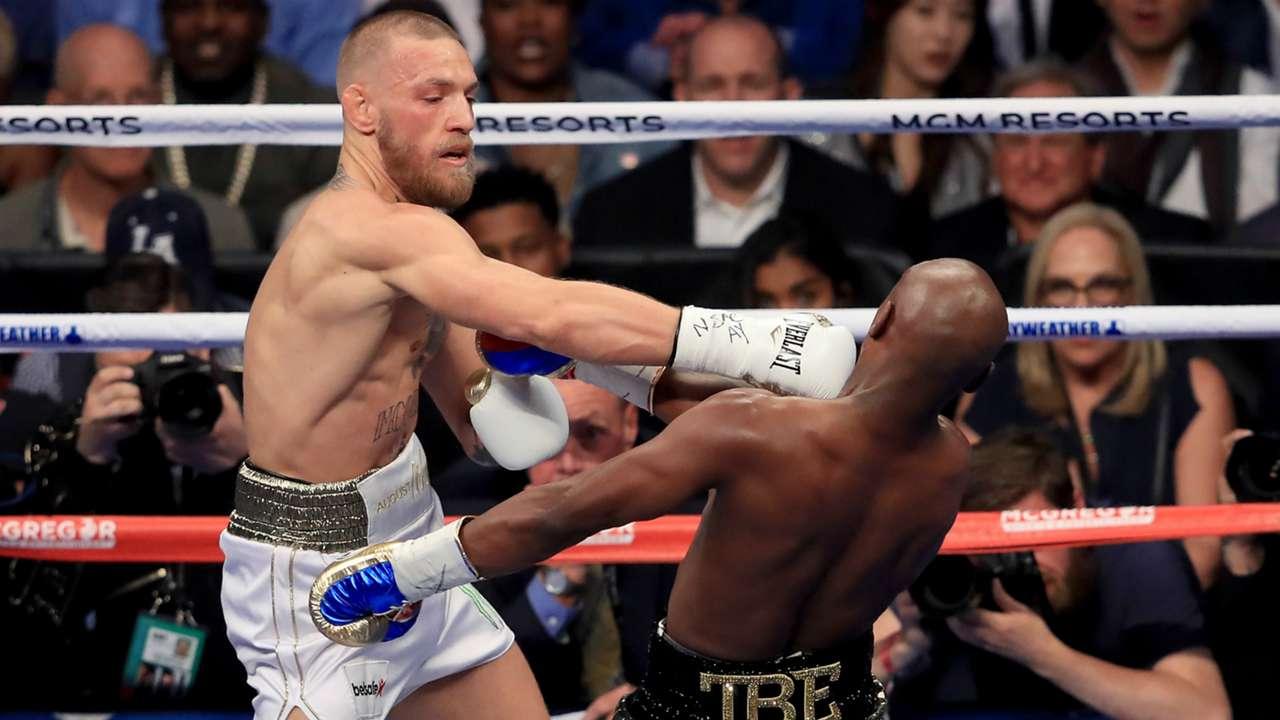 Floyd Mayweather Jr v Conor McGregor super welterweight in Las Vegas 26082017