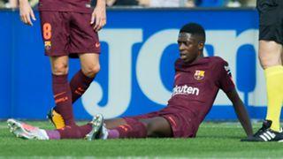 Ousmane Dembele Getafe v Barcelona La Liga 16092017