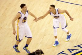 Klay Thompson and Stephen Curry - Golden State Warriors 06022016