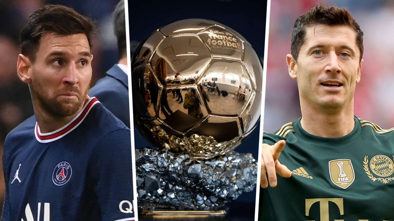 Lionel Messi Robert Lewandowski Ballon d'Or GFX