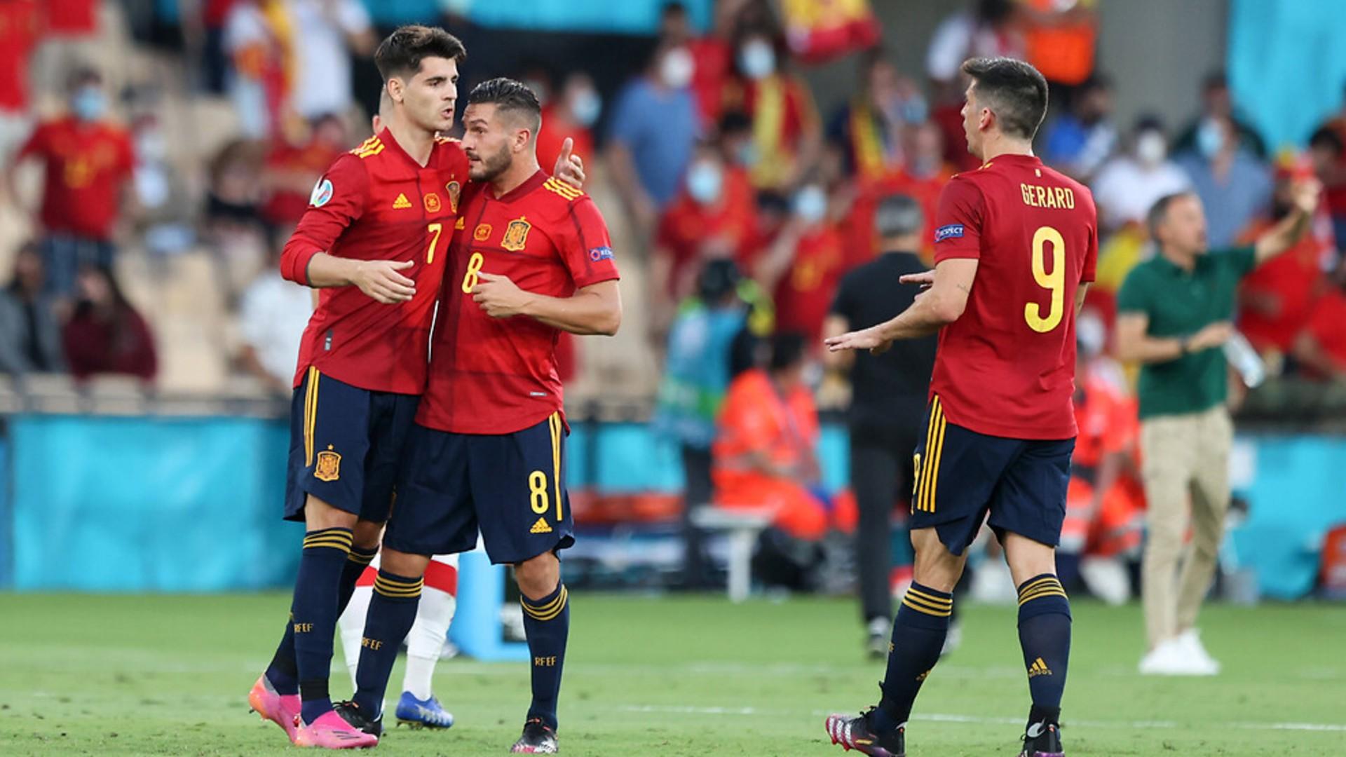 Morata İspanya Gol Sevinci EURO 2020