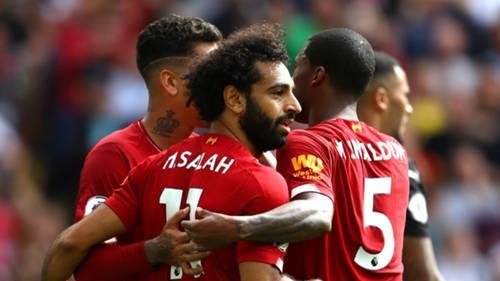 Mohamed Salah - Firmino - Wijnaldum Liverpool v Newcastle United 09142019