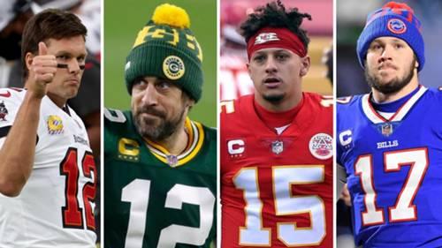 Brady Rodgers Mahomes Allen NFL kolaj