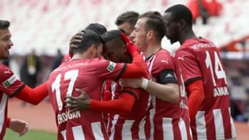 Sivasspor gol sevinci 11 Nisan 2021