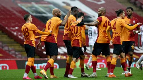 Galatasaray gol sevinci vs Gençlerbirliği 9 Ocak 2021