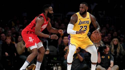 James Harden LeBron James Houston Rockets v Los Angeles Lakers 09122019