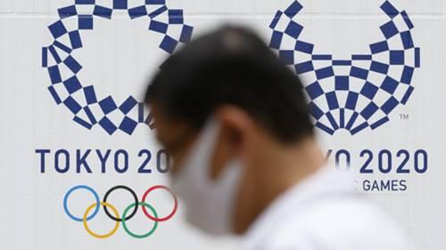 Tokyo 2020 Olimpiyat logo koronavirüs maske