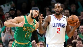 Jayson Tatum Kawhi Leonard Boston Celtics Los Angeles Clippers 02142020