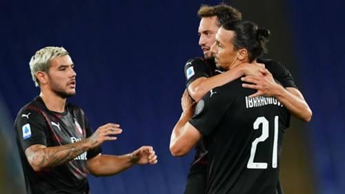 Hakan Calhanoglu Zlatan Ibrahimovic Milan