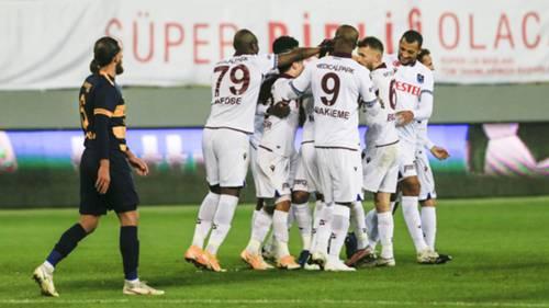 Trabzonspor gol sevinci vs Ankaragücü