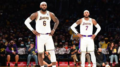 Lebron James Carmelo Anthony Los Angeles Lakers 2021-22