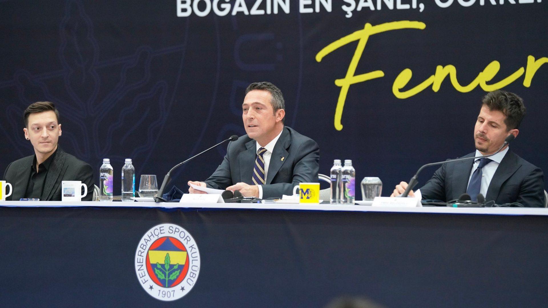 Mesut Özil, Ali Koç, Emre Belözoğlu Fenerbahçe