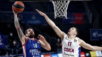 Adrien Moerman Semen Antonov Anadolu Efes CSKA Euroleague 4 Mart 2021