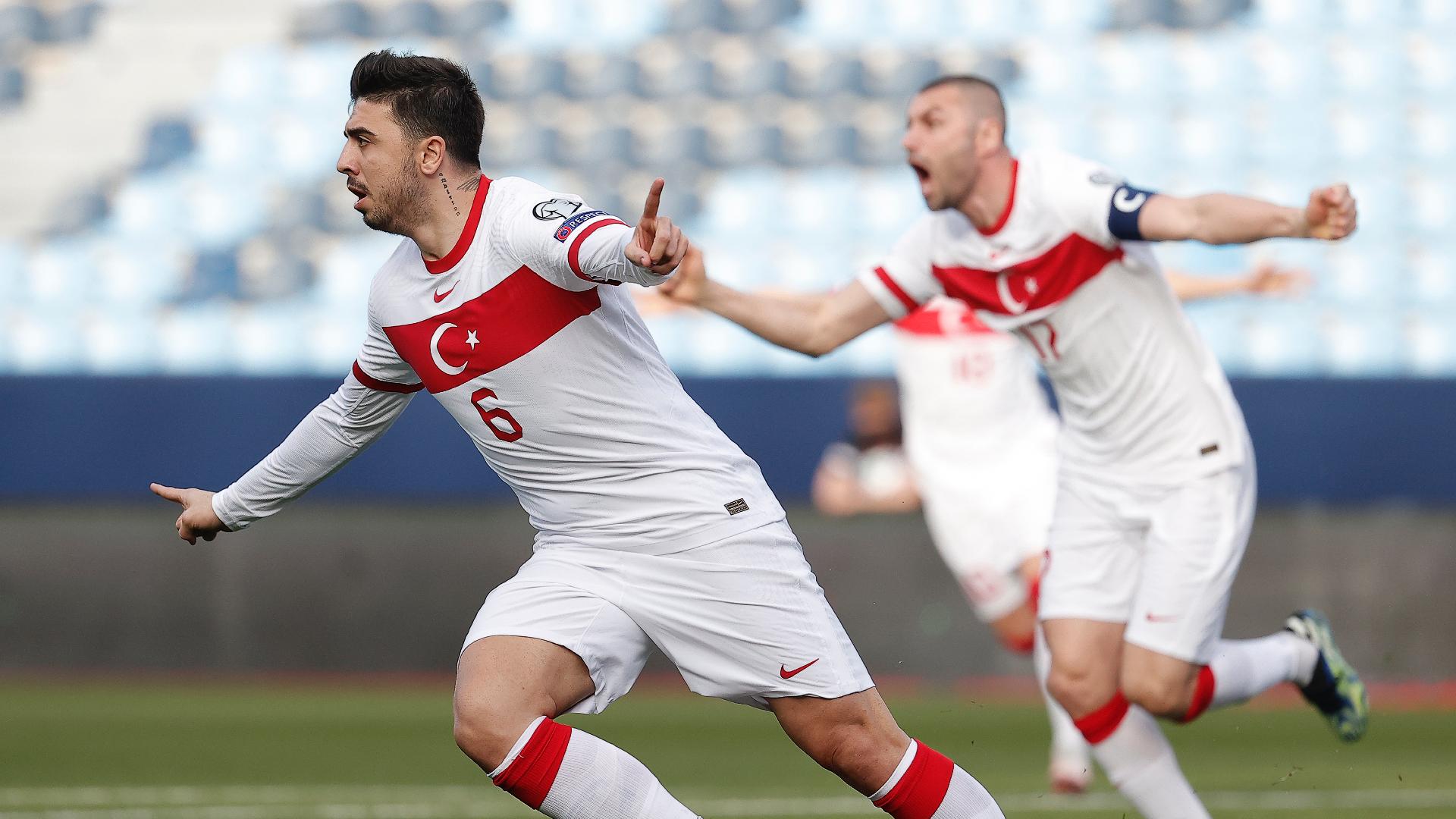 Ozan Tufan Türkiye A Milli Takım 27 Mart 2021 gol sevinci