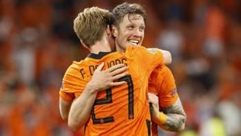 Hollanda Gol Sevinci EURO 2020 13 Haziran 2021