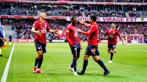 Lille gol sevinci Burak Yılmaz 22 Eylül 2021