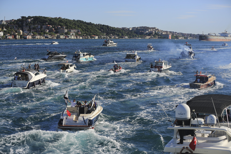 SADECE EMBED Beşiktaş şampiyonluk kutlaması boğaz tekne 2020-21